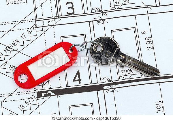 Plan de casa con llave - csp13615330