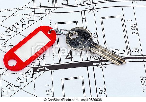 Plan de la casa con llave - csp19629036