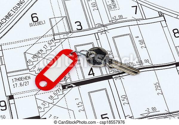 Plan de la casa con llave - csp18557976