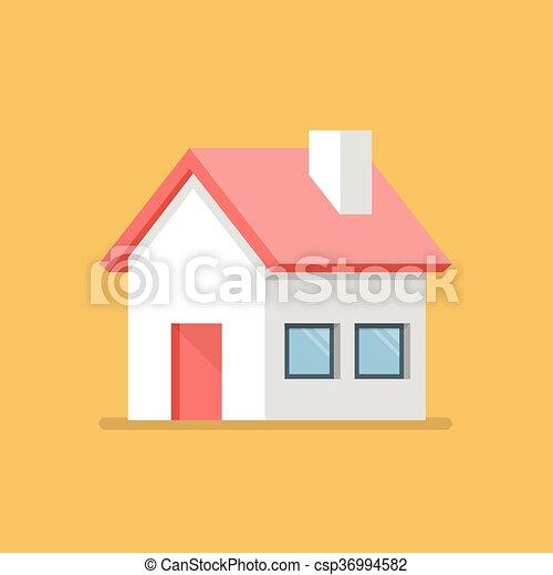 Icono plano de la casa - csp36994582