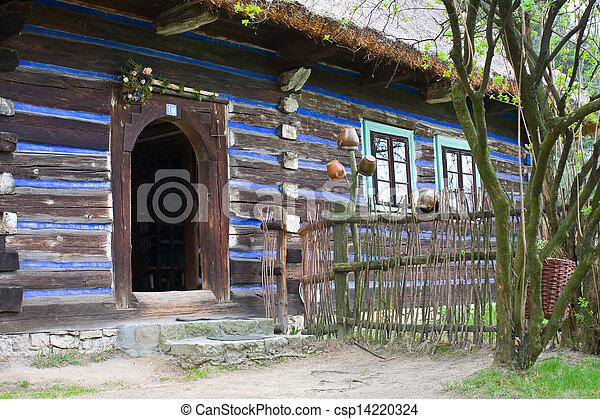 casa, polonia, viejo, abandonado, aldea - csp14220324