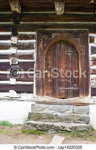 casa, polonia, viejo, abandonado, aldea - csp14220325