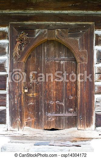 casa, polonia, viejo, abandonado, aldea - csp14304172