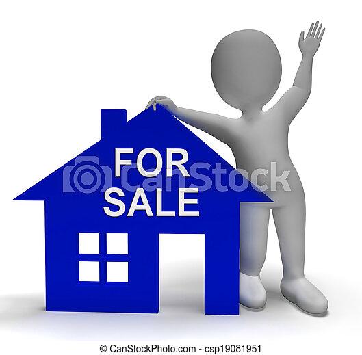 casa, proprietà, vendita, mercato, mostra - csp19081951