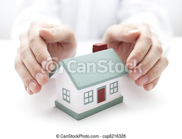 casa, proteja, seu - csp6216328