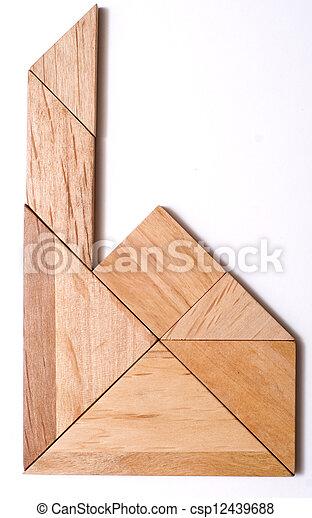 Casa puzzle tangram torre figure differente fatto for Casa tradizionale cinese
