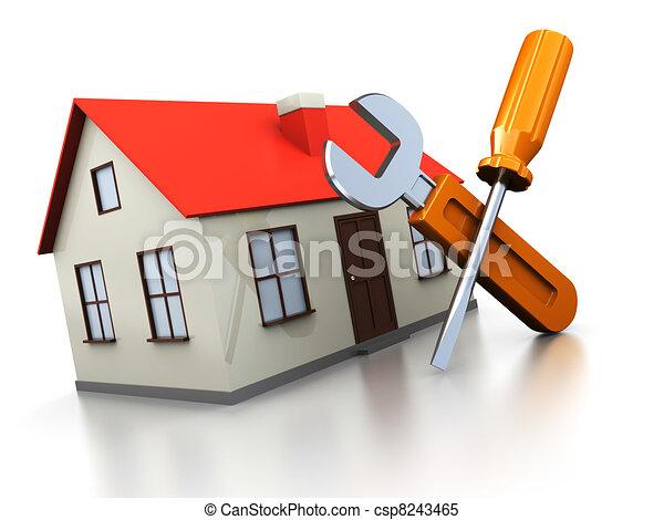 Reparación de la casa - csp8243465