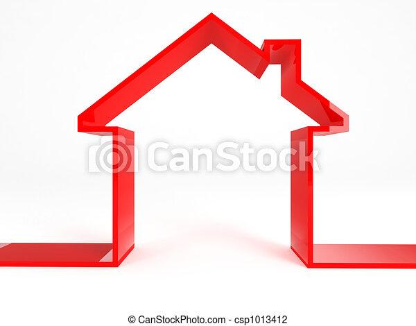 casa, rosso - csp1013412