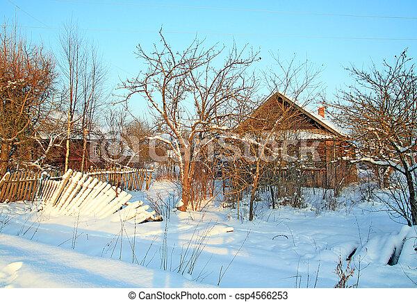 casa, rural, abandonado, aldea - csp4566253