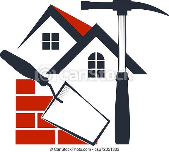 El símbolo de la construcción de la casa - csp72851303