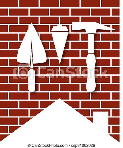 El símbolo de la construcción de la casa - csp31082029