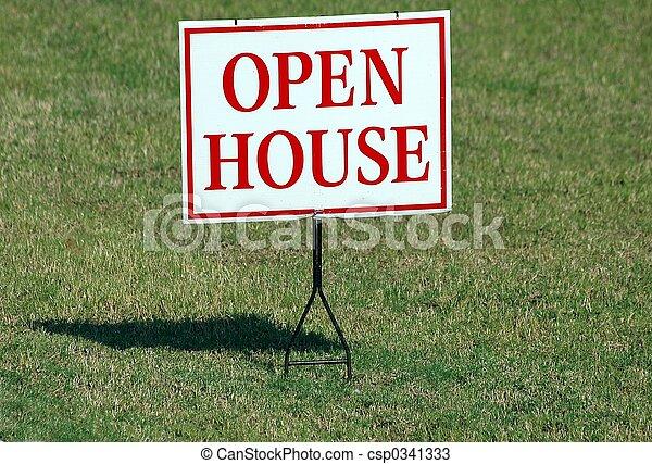 Señal de casa abierta - csp0341333