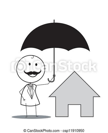 Seguro de casa - csp11910950