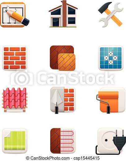 casa, set., 1, parte, rinnovamento, icona - csp15445415