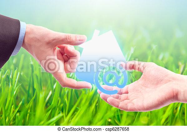 casa, simbolo, internet - csp6287658