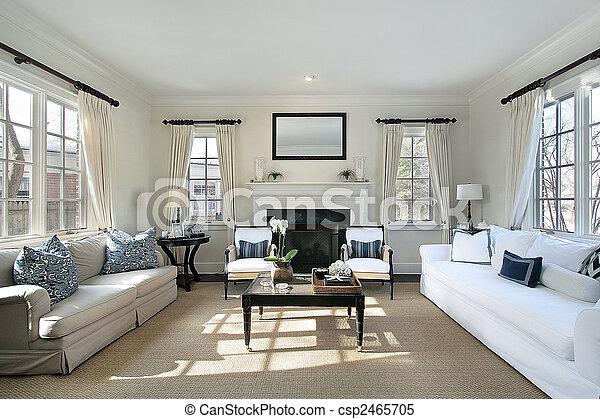 casa, stanza, lusso, vivente - csp2465705