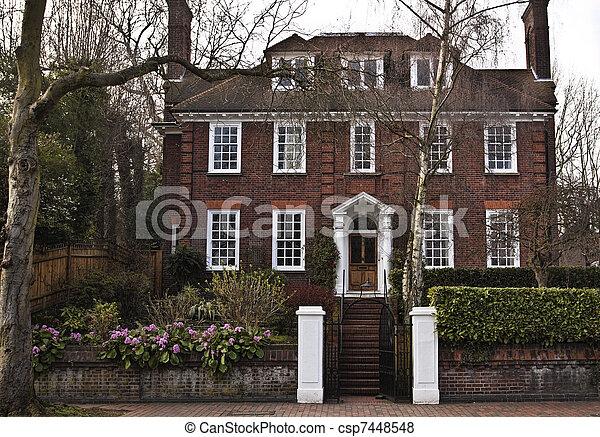 Casa stile georgian casa georgiano londra stile foto for Piani di casa in stile ranch gratis
