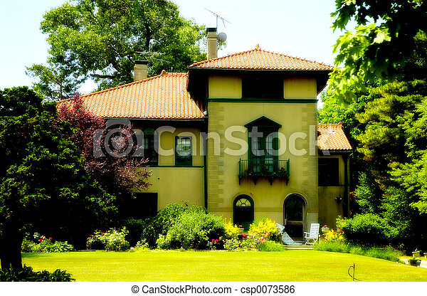 casa, stile, tuscani - csp0073586