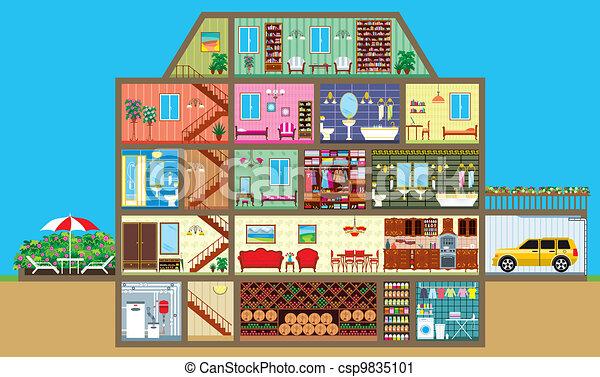 casa, taglio - csp9835101