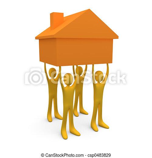 Teniendo una casa #2 - csp0483829