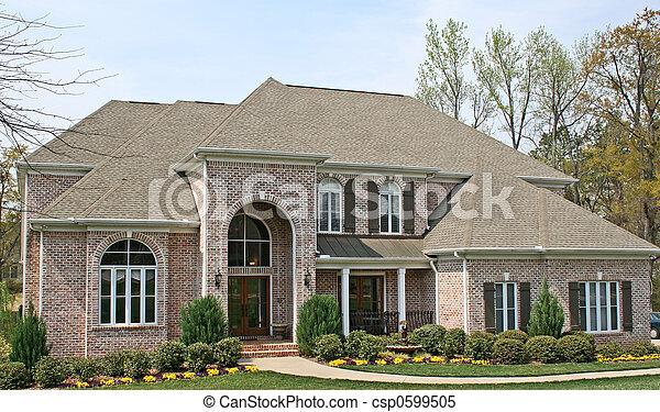 casa, tijolo, luxo - csp0599505