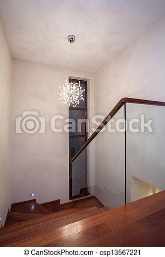 La casa de Travertine, escaleras - csp13567221