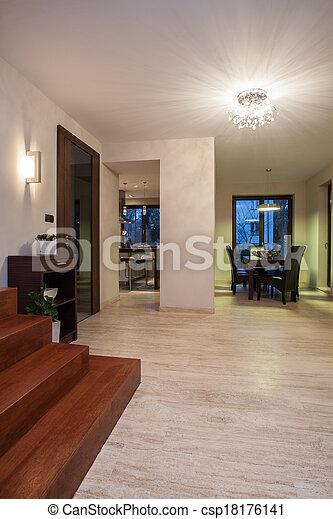 Casa Travertine, pasillo - csp18176141