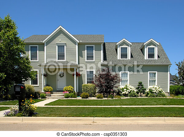 casa, verano - csp0351303