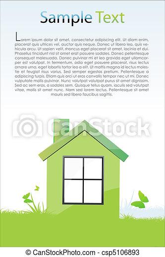 Una tarjeta verde - csp5106893