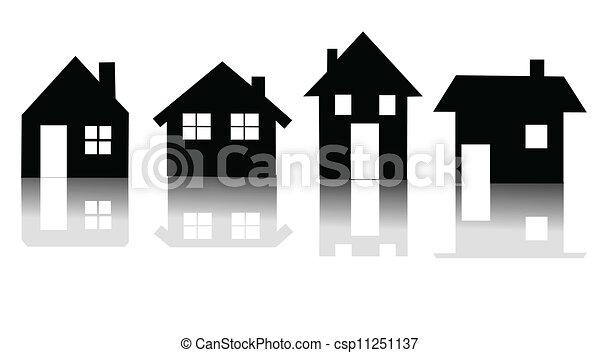 casa, vettore, set, icona - csp11251137