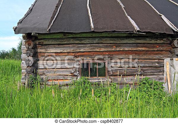 casa, viejo, abandonado, aldea - csp8402877