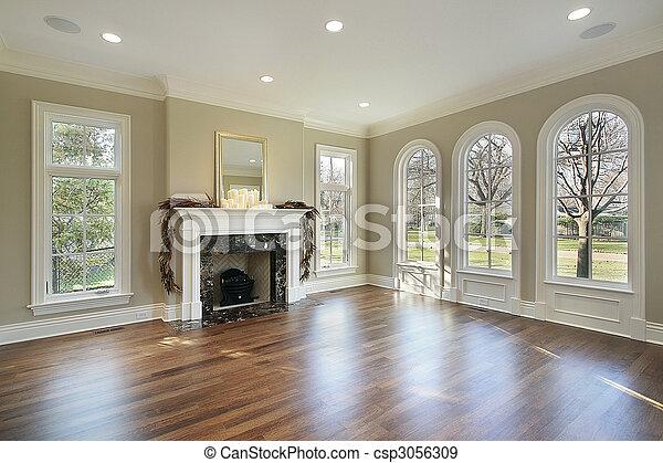 casa, vivente, costruzione, stanza, nuovo - csp3056309