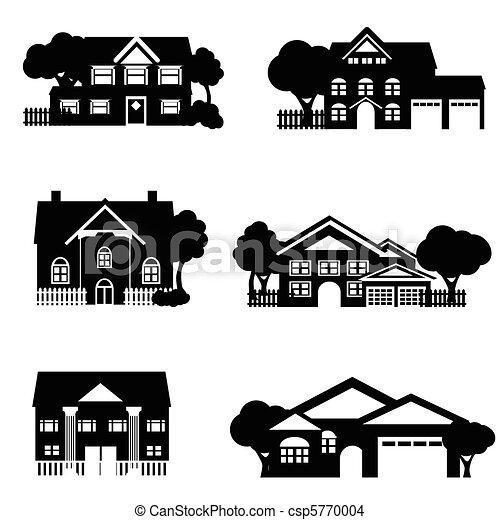 casas, única família - csp5770004