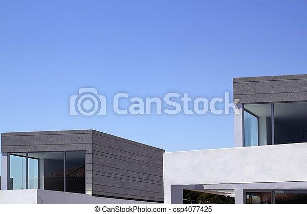 casas, arquitectura moderna, cosecha, detalles - csp4077425