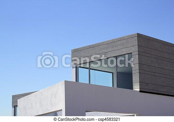 casas, arquitectura moderna, cosecha, detalles - csp4583321