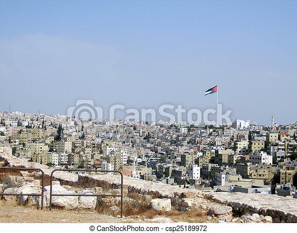 casas, capital, jordania, amman - csp25189972