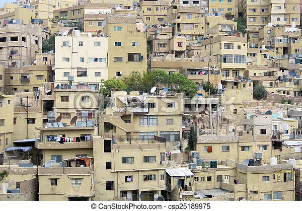 casas, capital, jordania, amman - csp25189975