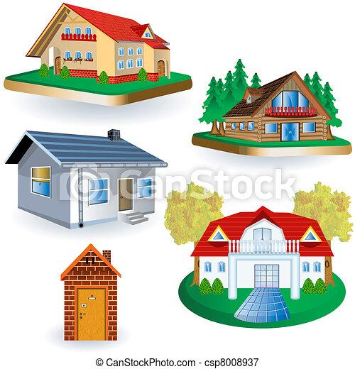 casas, cinco - csp8008937