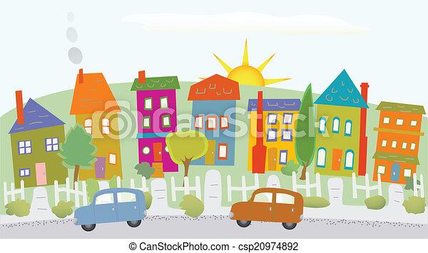 Casas en una colina - csp20974892