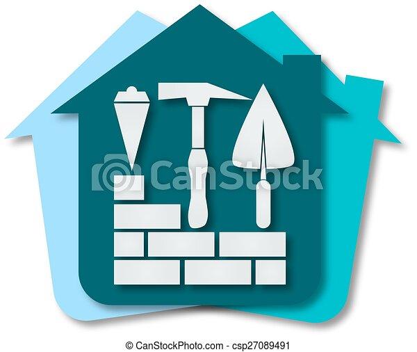 Casas de construcción - csp27089491