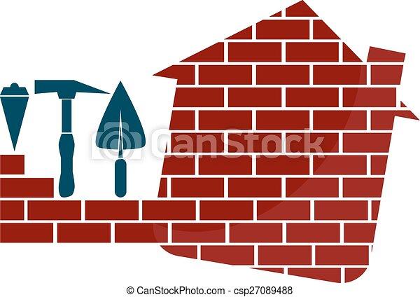 El emblema de las casas de construcción - csp27089488