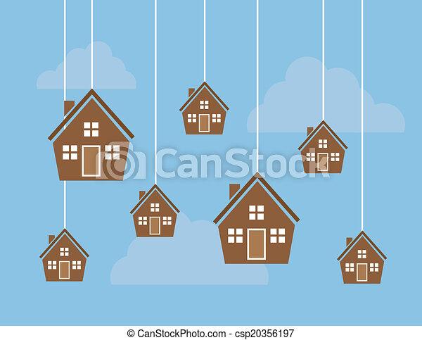 Casas con cuerdas - csp20356197