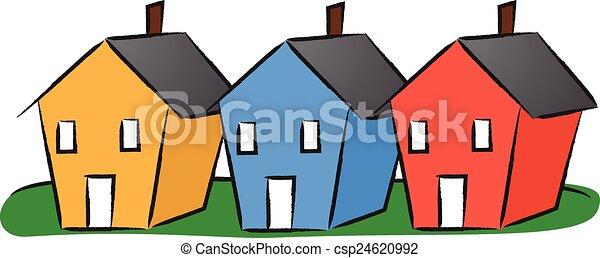 Casas seguidas - csp24620992