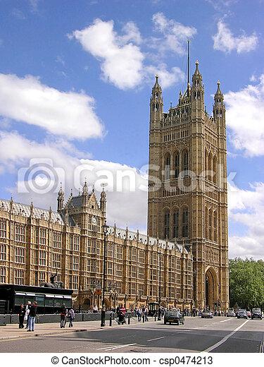 Casas del Parlamento en Londres - csp0474213