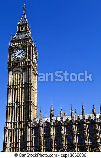 Casas del Parlamento en Londres - csp13862836