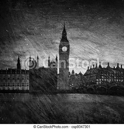 Casas del Parlamento en Londres - csp9347301