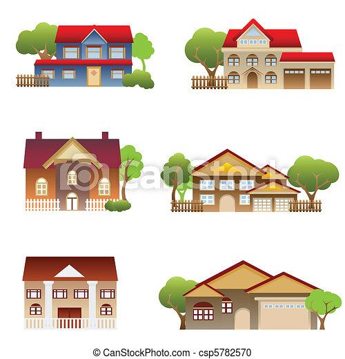 Varias casas - csp5782570