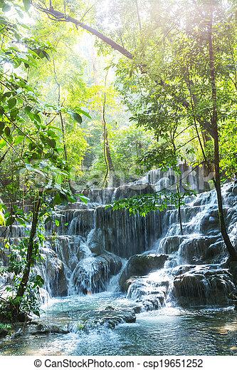 Una cascada en México - csp19651252