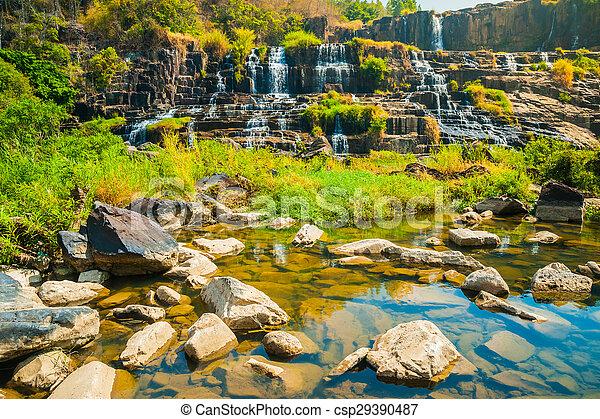 Caja de agua Pongour, Vietnam - csp29390487