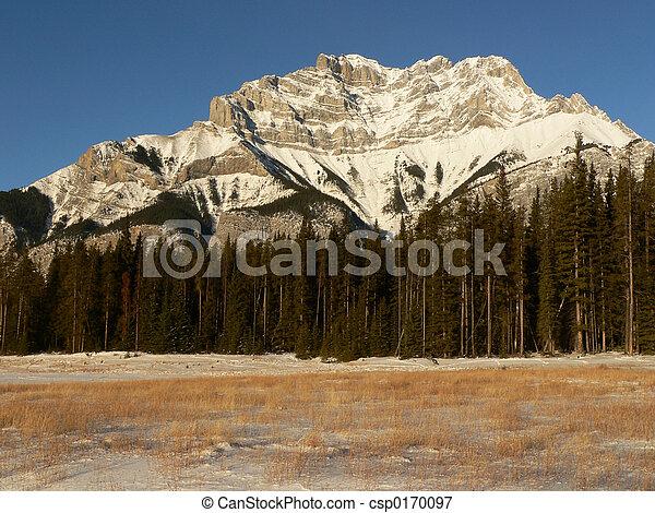 Cascade Mountain in Winter - csp0170097